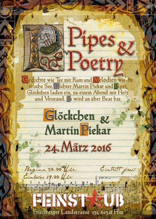 Pipes and Poetry - 24.03.2016